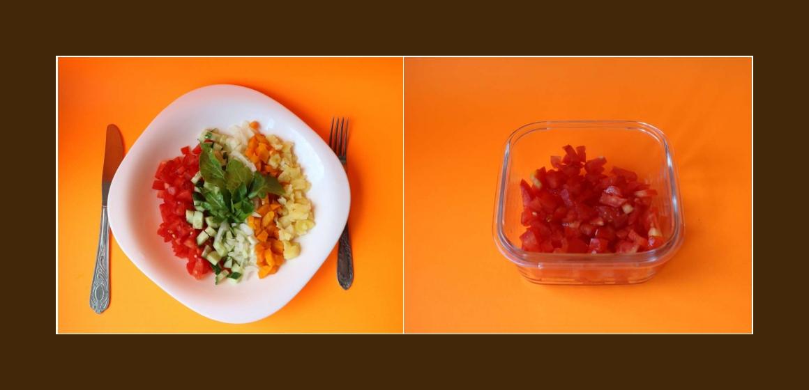 bunter Salat Tomatensalat