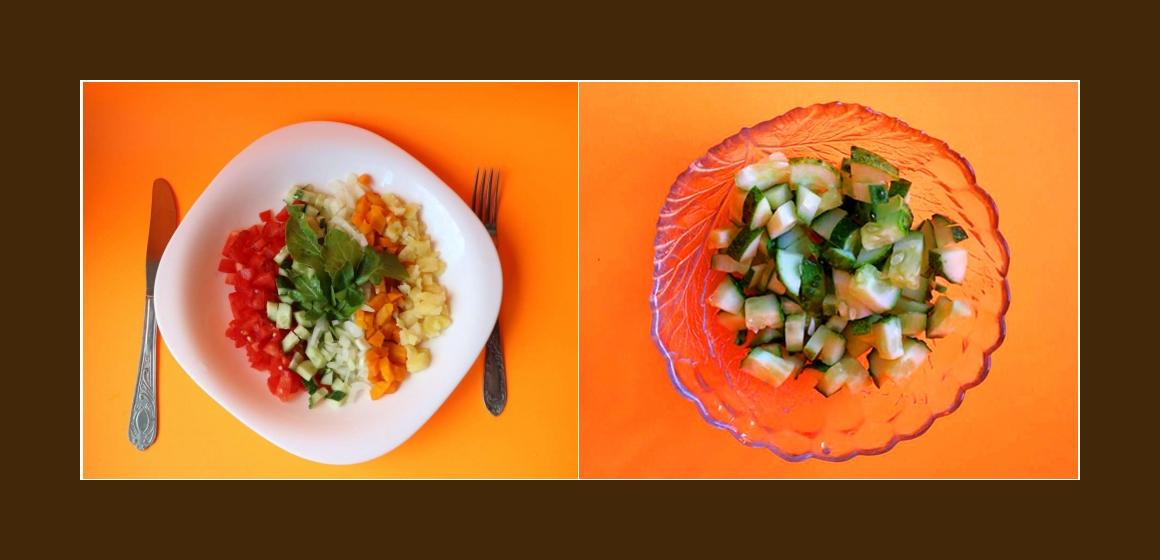 leichter Salat Gurkensalat