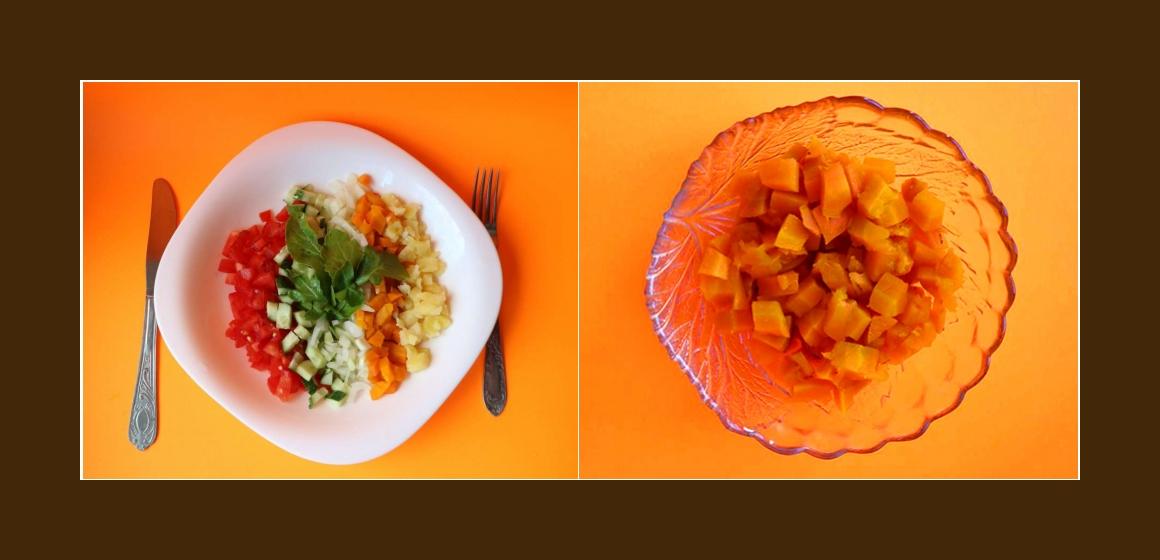 gemischter Salat Kartoffelsalat