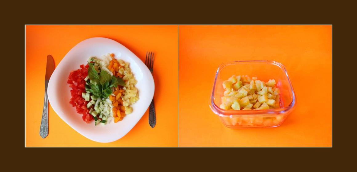 einfacher Salat Gemüsesalat