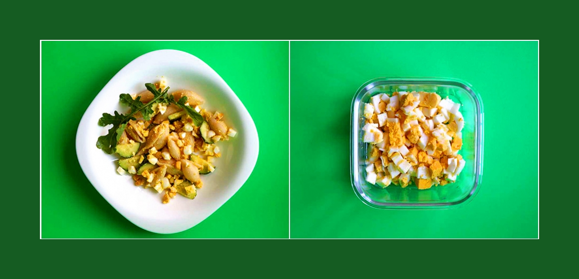 bunter Salat Nudelsalat