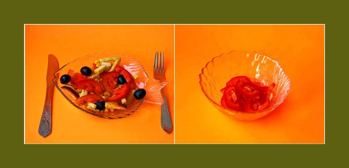 schmackhafter Salat Zutaten