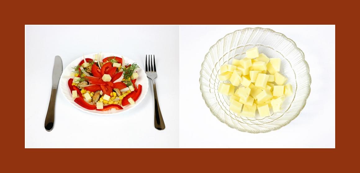 Nahrhafter Salat mit Reis