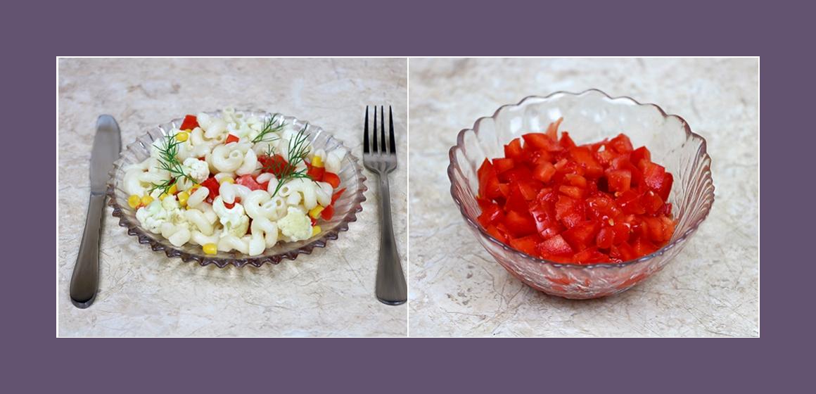 gemischter Salat Nudelsalat
