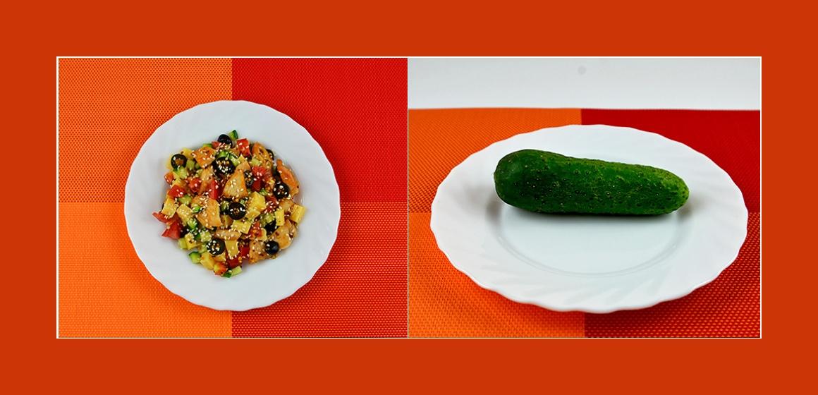 schmackhafter Gemüsesalat