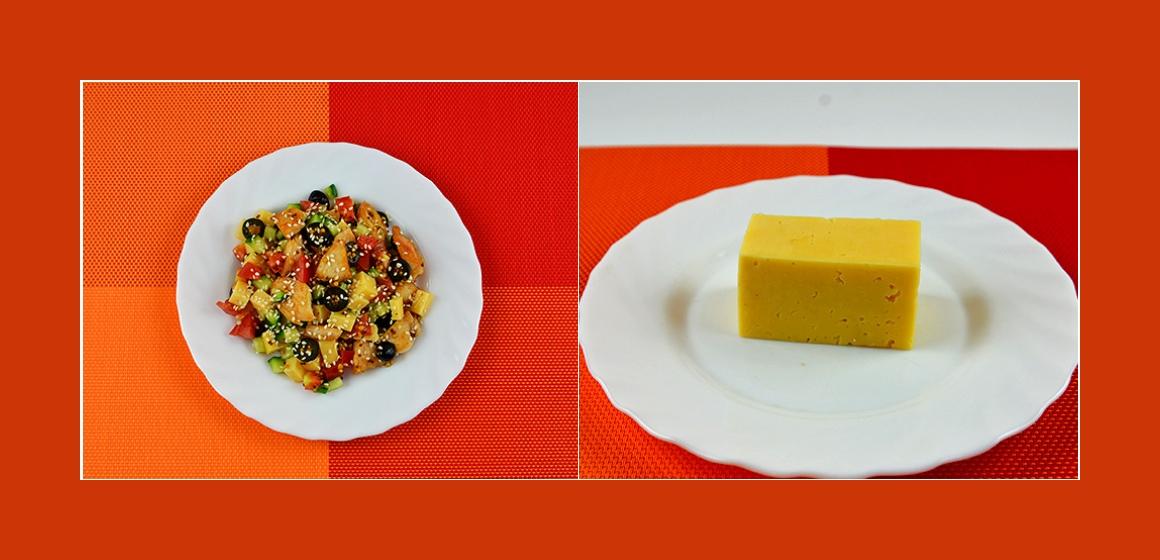 Salat mit Käse