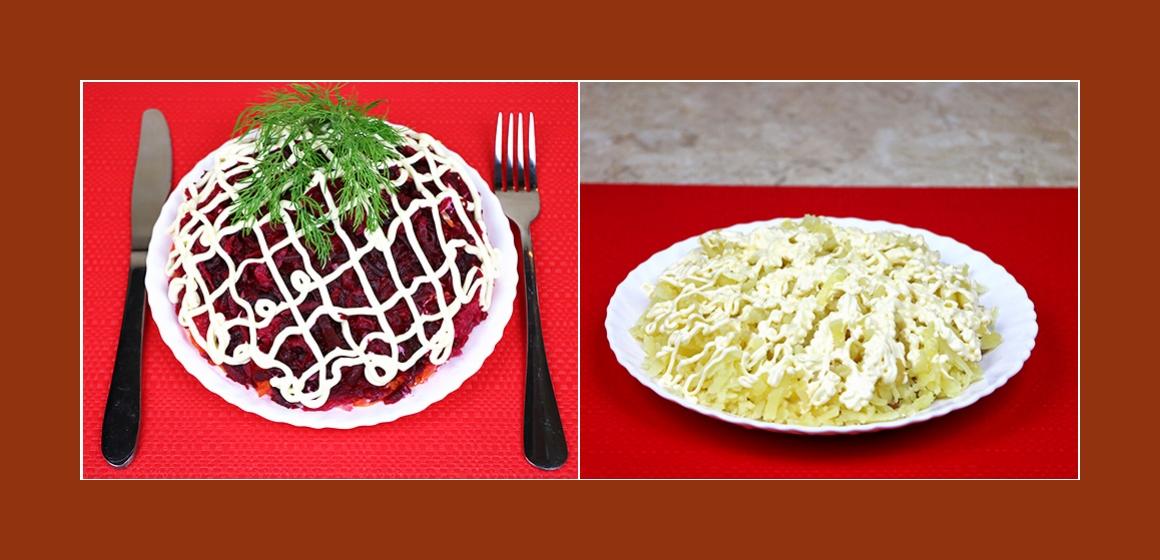 einfacher Gemüsesalat