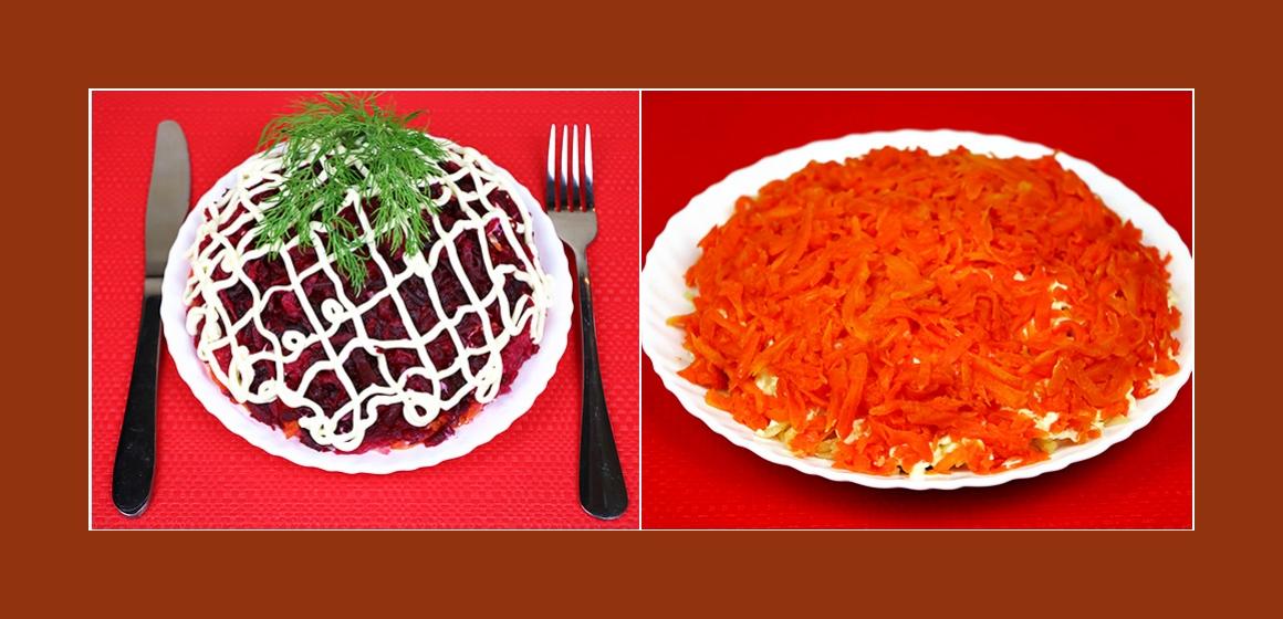 Schichtsalat aus Gemüse