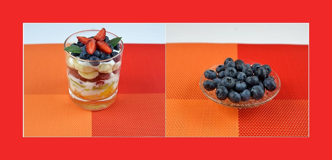 Obstsalat mit Heidelbeeren