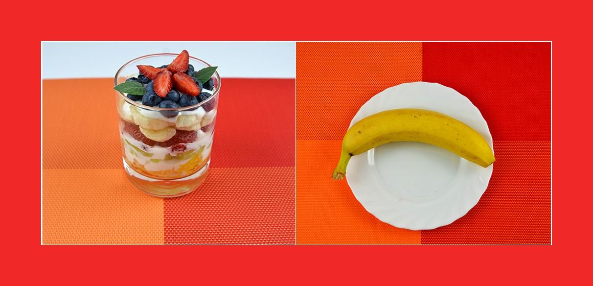 Bananen-Erdbeeren Salat