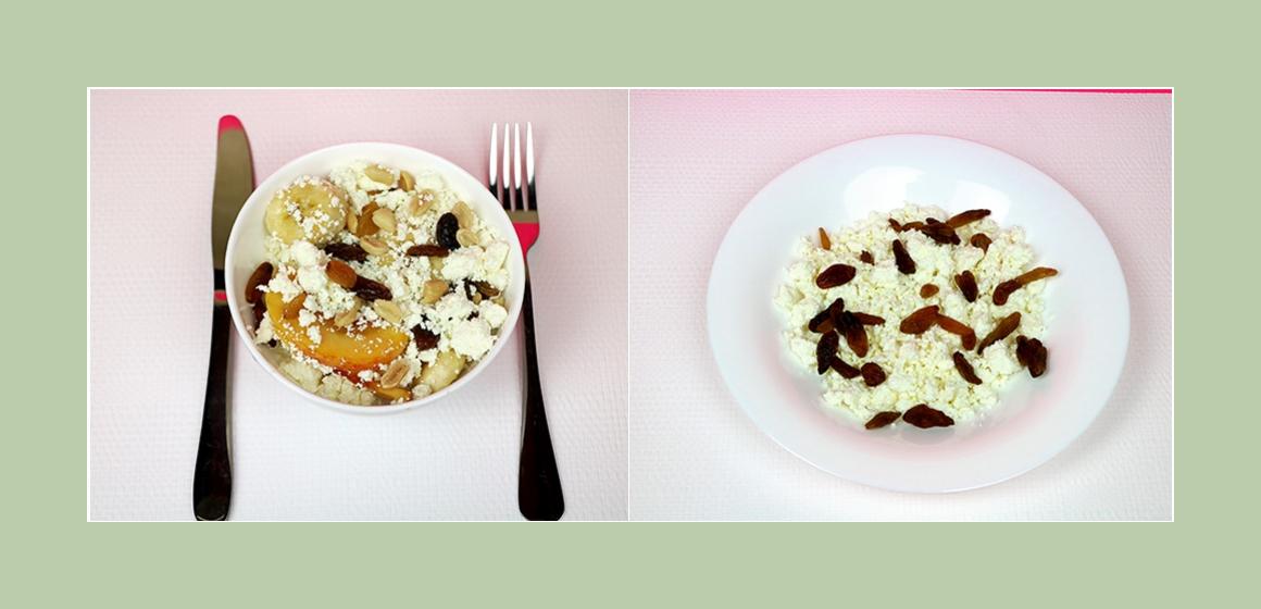 Salat mit Rosinen und Erdnüsse