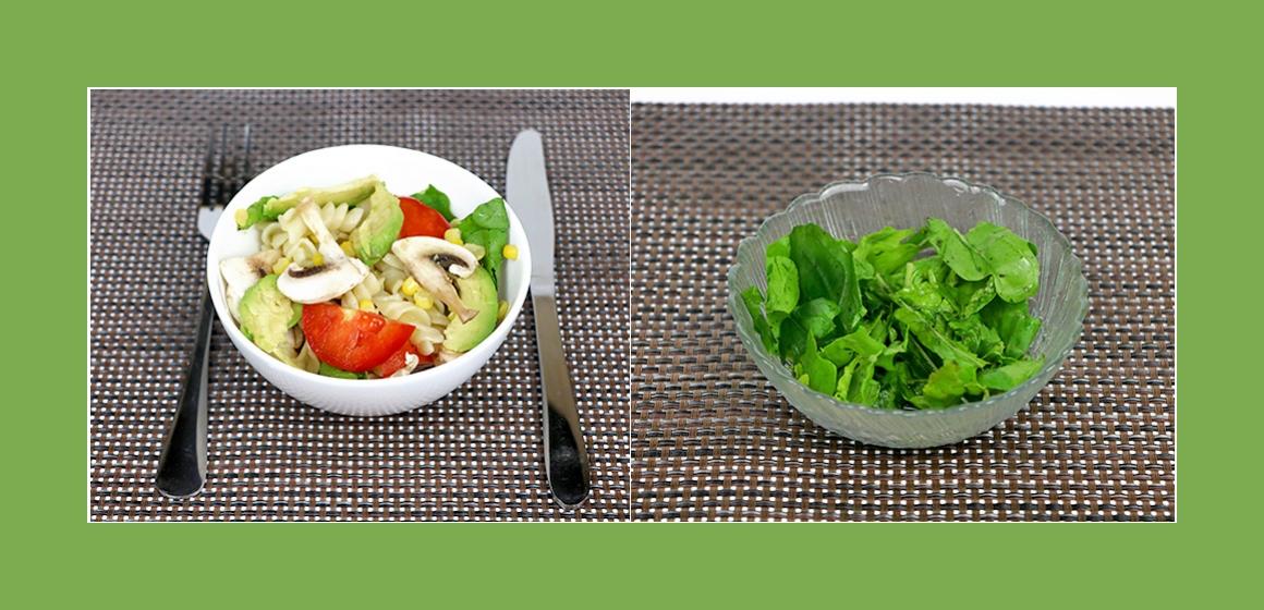 Tomaten-Pilzen-Mais Salat